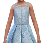 Simphany.com – Lace Top Ribbon Dress For Little Girls