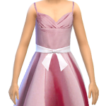 Simphany.com – Crinkled Ball Gown For Little Girls