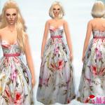 sims2fanbg's 25 – Long Colorful Dress