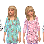 Pixel Peach 4 Boutique Girls Geometric Sweater Dresses