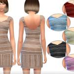 ekinege's Sequin Embellished Mini Dress
