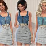 Puresim's Cotton & Denim Dress