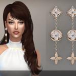 Louis Vuitton monogram perle earrings (S4)… – BEO creations
