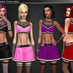 Cre8Sims' Rebel Cheerleader Costume Set