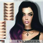 FashionRoyaltySims' FRS Eyebrows N06