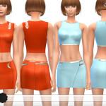 ekinege's Cropped Tops & Mini Skirts – Set9