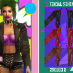 -SAVAGE SIMS- -RAD LEATHER JACKET-