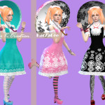 Studio K Creation — Bloody Lilith-Lolita outfit [TS4] fullbody dress…