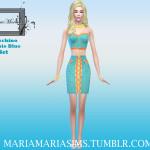 MariaMariaSims' MariaMaria Moschino Barbie Blue Set