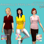 An Unearthly Child – Amaryll's Peplum Blouse Recolors Custom icon …