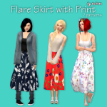 An Unearthly Child – Flare Skirt with Print Custom icon thumbnail 7 …