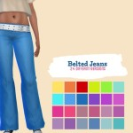 midnightskysims' Belted Jeans
