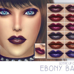 Screaming Mustard's [ Ebony Baby ] – Gothic Lip Colour