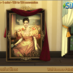 TS3 To TS4 Conversion – Wall Rococo Painting | Designs for Sims
