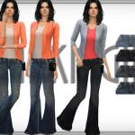 DarkNighTt's Distressed Flared Jeans