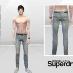 McLayneSims' Moon Rocket Destroyed Denim Jeans