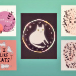Baking up sweet CC treats! – I Like CATS! Poster Set Another art set from cute…
