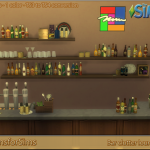 TS3 To TS4 Conversion – Bar lounge clutter | Designs for Sims