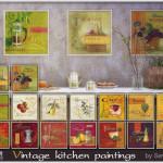 Vintage kitchen paintings
