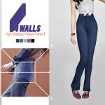 WAEKEY • 4 Walls High-Waisted Flared Pants II • New mesh /…