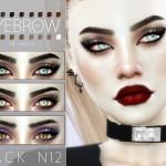 Pralinesims' Eyebrow Pack N12