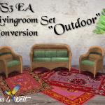 "TS3 EA Living Set ""Outdoor"" Conversion"