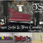TS3 EA Antique Sofa & Tree Candles Conversion