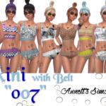 "Bikini with Belt ""007"""