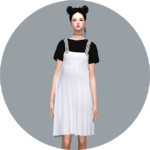 SIMS4 marigold: Pleats Dress With T-Shirt_ pleated dresses and T-shirts _ A woman in costume