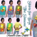 """Shirts for Boys """"The Simsons"""""""