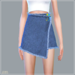 Pin Pin Wrap Mini Skirt_ wrap skirt _ A woman in costume – SIMS4 marigold