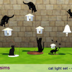 PurpleLove-sims — Cat light set (sims 4) 4 styles of cat light /…