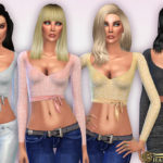 Harmonia's Wrapped Cut-Out Sequin Crop Top