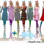 Knitted Dress Wintertime