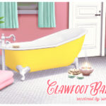 Base game Clawfoot bathtub recolor This is a… – sim for a dream