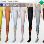 Jennisims: Downloads sims 4:Base Game compatible Tights Temptress Accessory