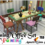 """TS3 to TS4 Dining/Office Set """"Painting"""""""