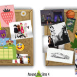 Around the Sims 4   Custom Content Download   Customize the pinboard/corkboard!