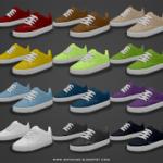 Basic Skater Shoes – Teen to Elders ~ Onyx Sims