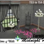 """Furniture Set """"Midnight Hollow"""" – TS3 to TS4 Conversion"""