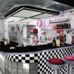 American Diner Part 3 by Slox and daer0n (new meshes) | Sims 4 Designs