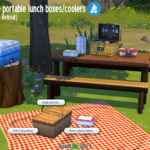 Around the Sims 4 | Custom Content Download | Any-surface Lunch boxes and coolers