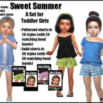 Sweet Summer -A Set for Toddler Girls- | GO TO… – Sims 4 Nexus