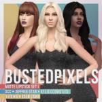 BustedPixels   Matte Lipstick Set I Base Game Non Default Base…