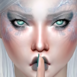 Jennisims: Downloads sims 4:Makeup EyeShadow Frozen Queen (13 Swatches )