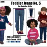 Toddler Jeans No. 5 -For Toddler Girls- | GO TO… – Sims 4 Nexus