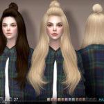 S-Club's sclub ts4 hair Half Bun n27B