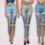 Harmonia's High-rise Distressed Foil Jeans