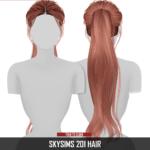 Redhead Sims CC | SKYSIMS 201 HAIR 2T4 HQ compatible Category: Hair…