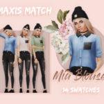Emmibouquet – Mia Blouse 14 swatches, including couple denim…